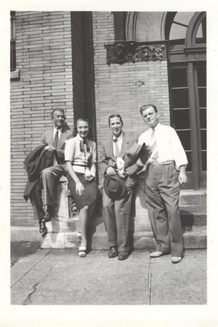 Morris Henry Hobbs and Art Class in front of Tree Studios - Charles Rosenthal Photographer