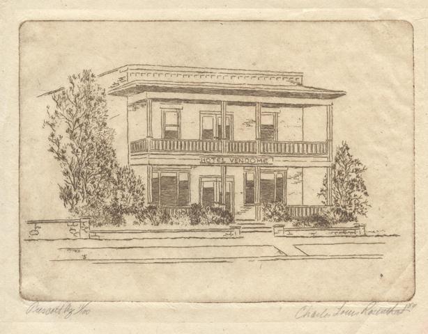 charles louis rosenthal etching prescott arizona 1984